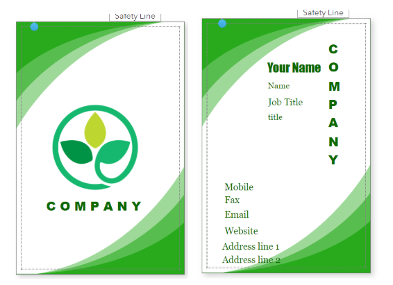 Graphic Name Card Template